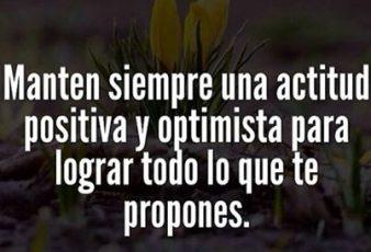Mantén Siempre una Actitud positiva