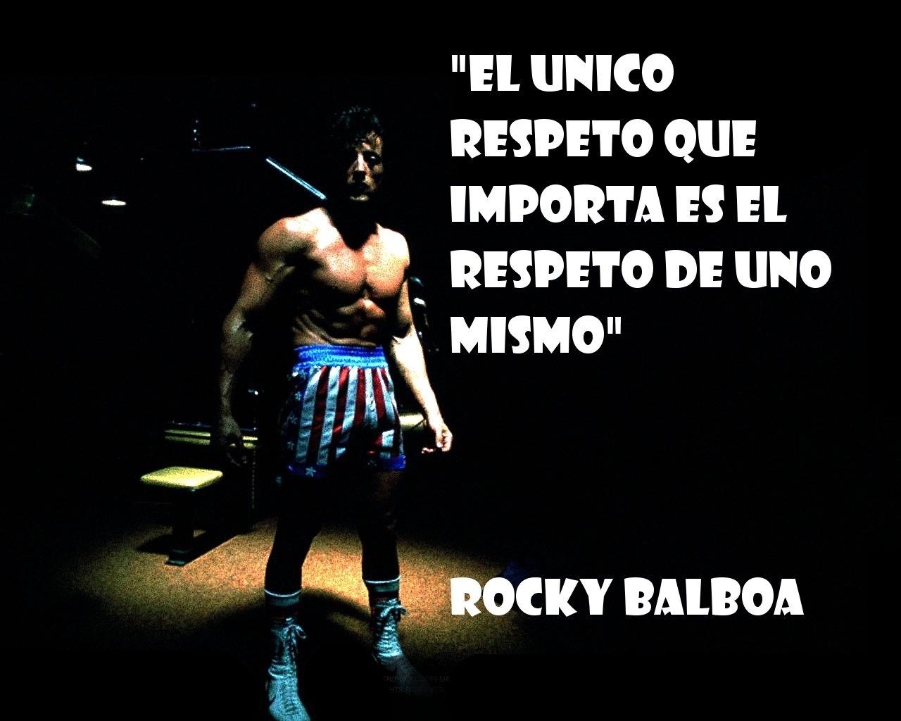 El unico respeto que importa es que te respetes a ti mismo
