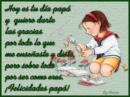 Postales con Frases de papa